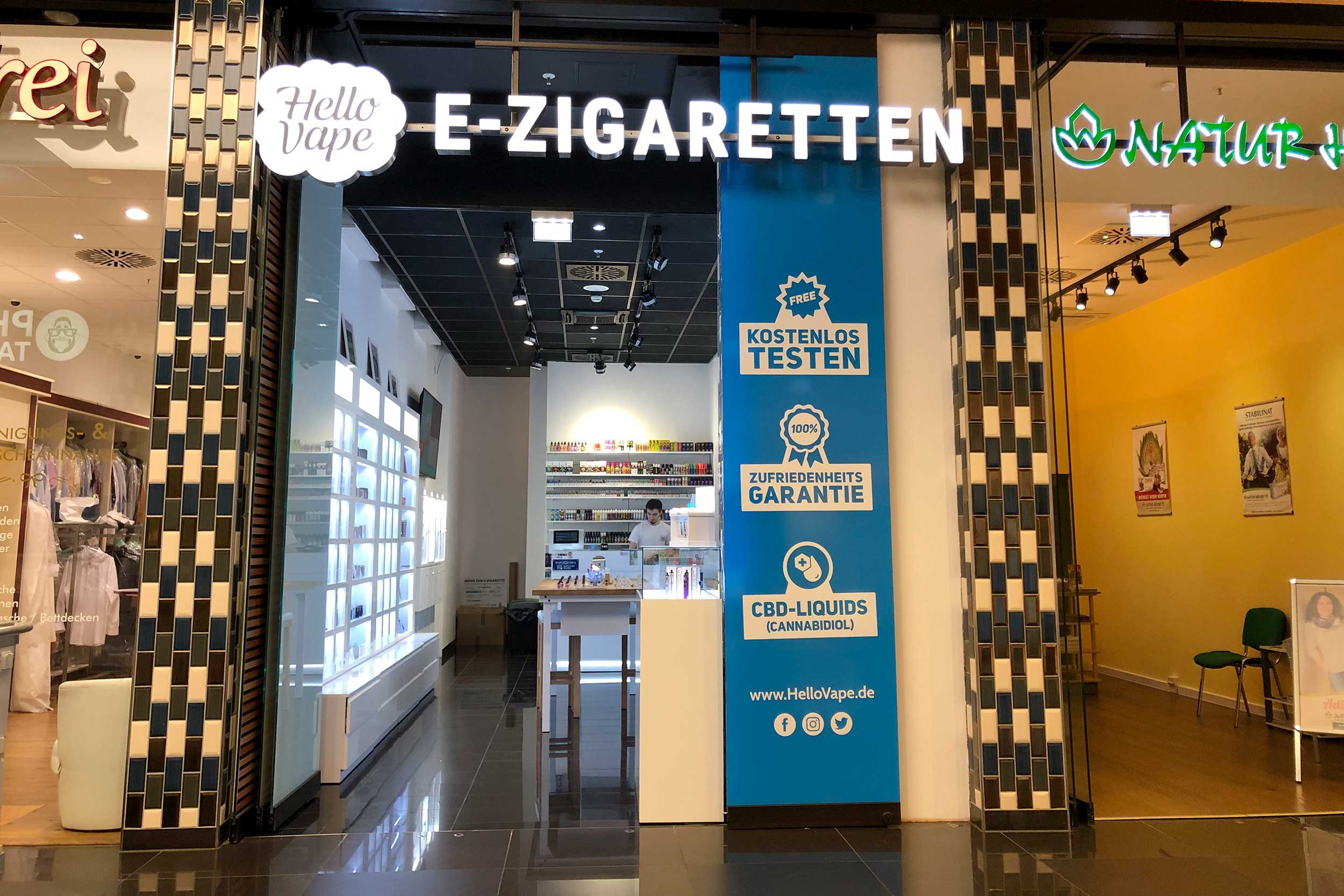 Hello Vape in der Mall of Berlin
