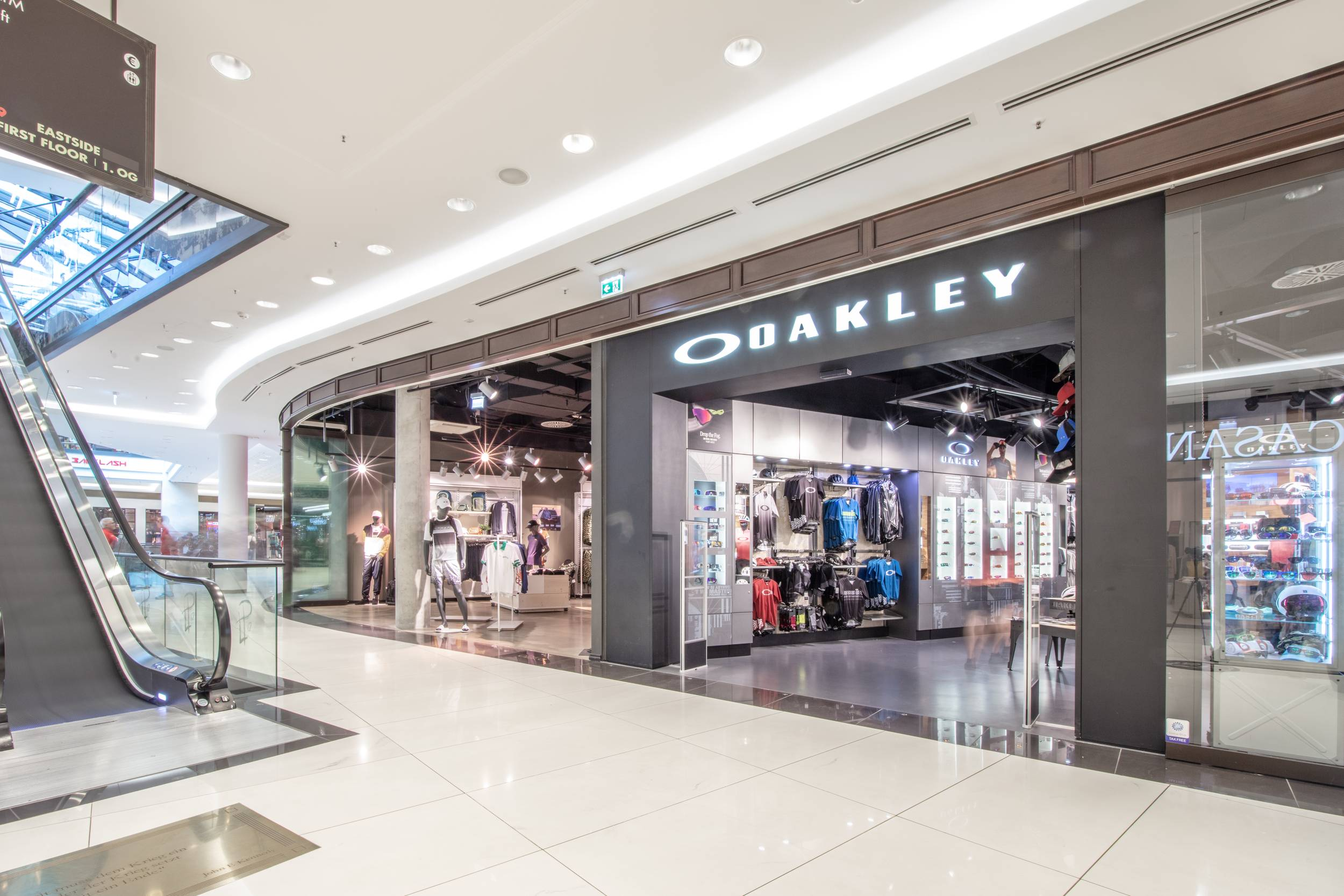 Oakley in der Mall of Berlin