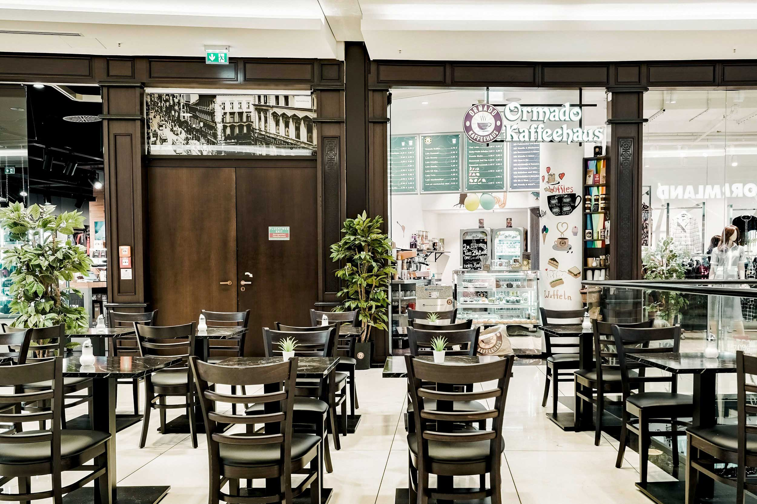 Ormado Kaffeehaus in der Mall of Berlin